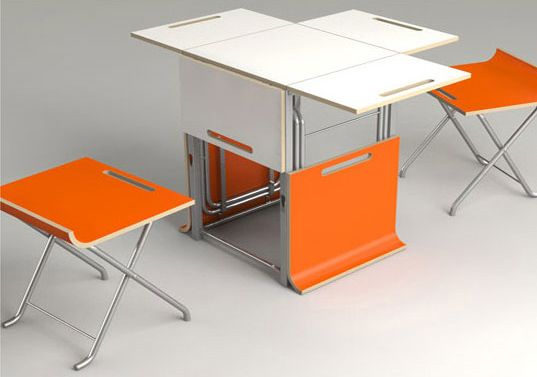 Offi paket table transforming furniture compactable for Mobilia kitchen table