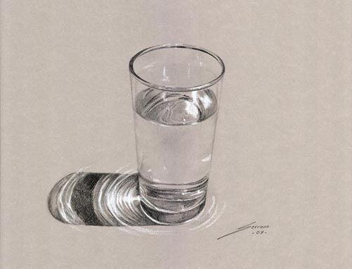 Vaso De Agua Dibujo De Serrano Dibujos 3d