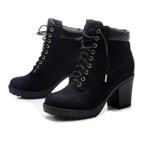 Pol Pl Czarne Botki Na Slupku Ju537b S2 120p 16105 2 Jpg 600 600 Boots Timberland Boots Sabrina Spellman Outfit