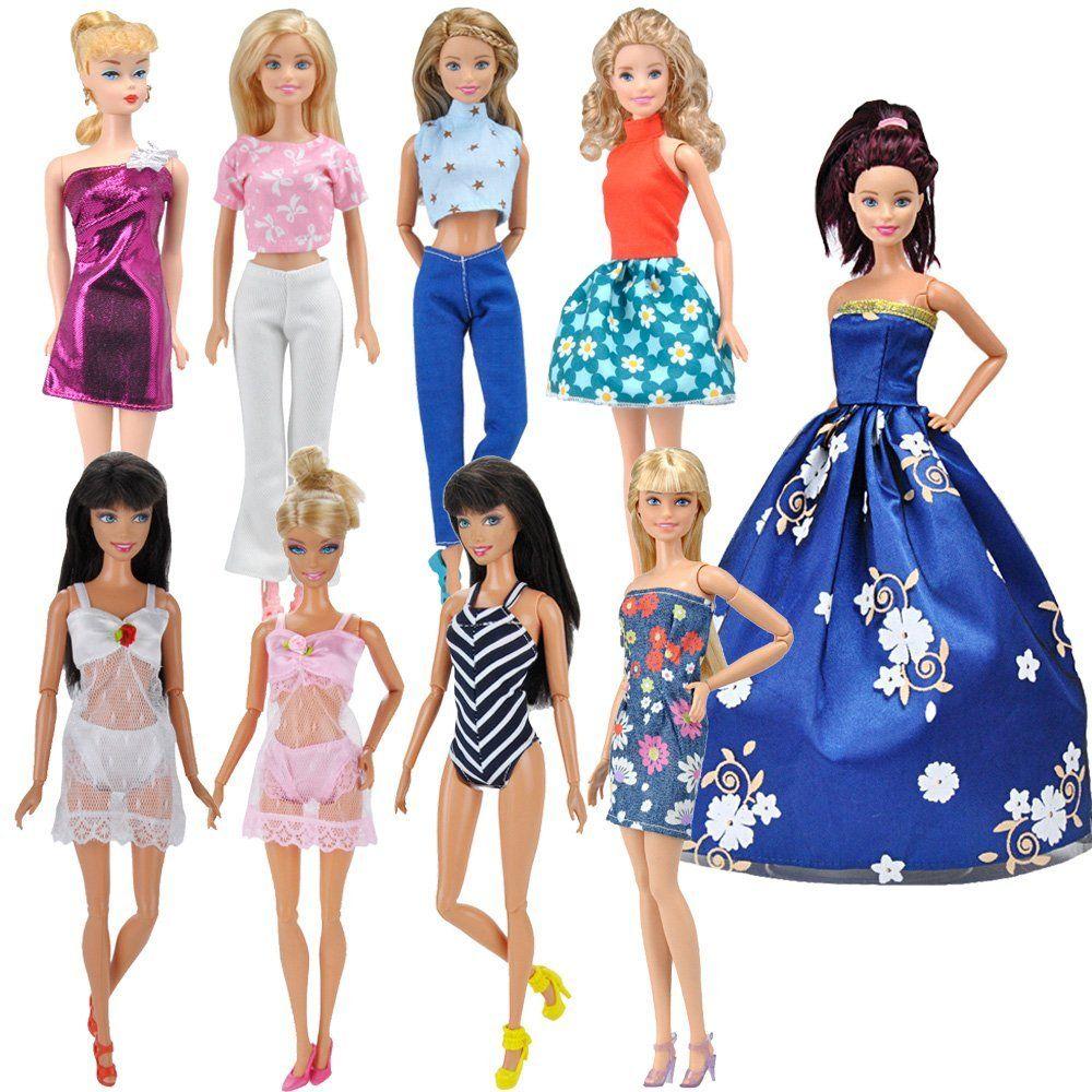 Barbie Doll Handmade outfit costume casual fashion dress # 9