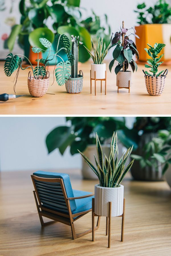 Interview: How a Personal Project of Paper Plants Blossomed into a Thriving Career #miniaturefurniture