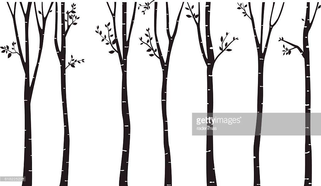 vector art birch tree silhouette background emery s room rh pinterest com birch tree vector art birch tree vector art
