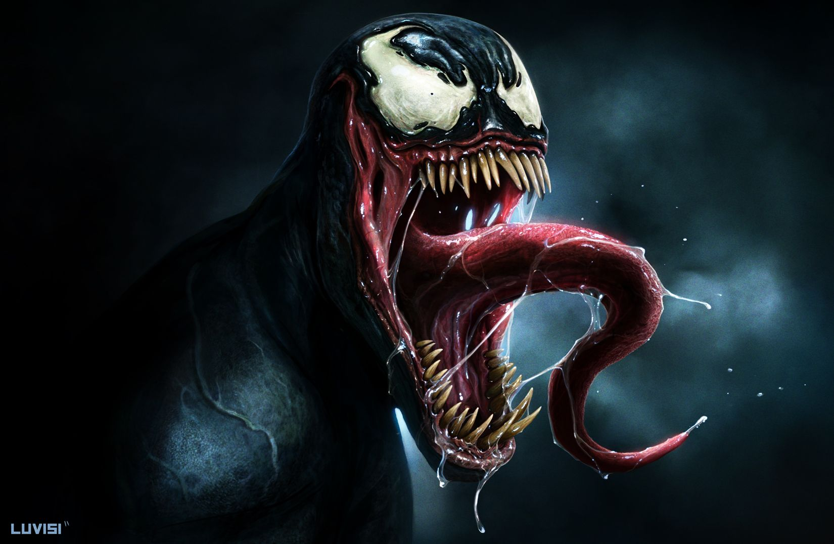 Real Venom HD Wallpaper | Wallpaper | Venom spiderman, Marvel venom, Venom movie