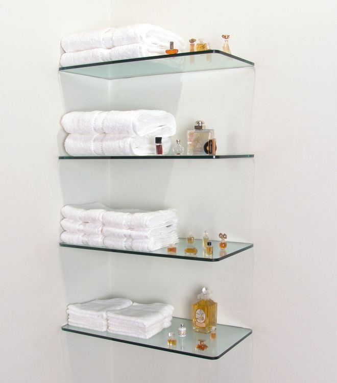 100 floating shelves perfect for storing your belongings - Bathroom glass corner shelves shower ...