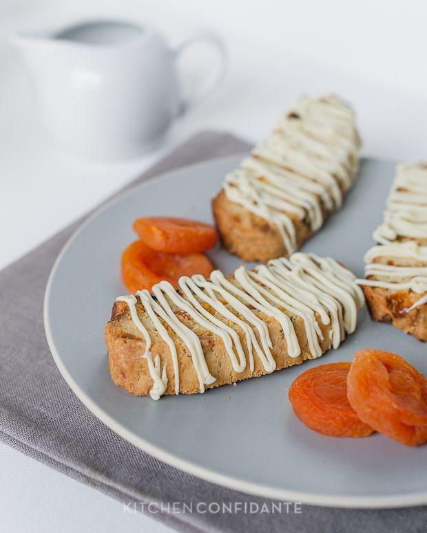 Apricot-White Chocolate Biscotti | Kitchen Confidante