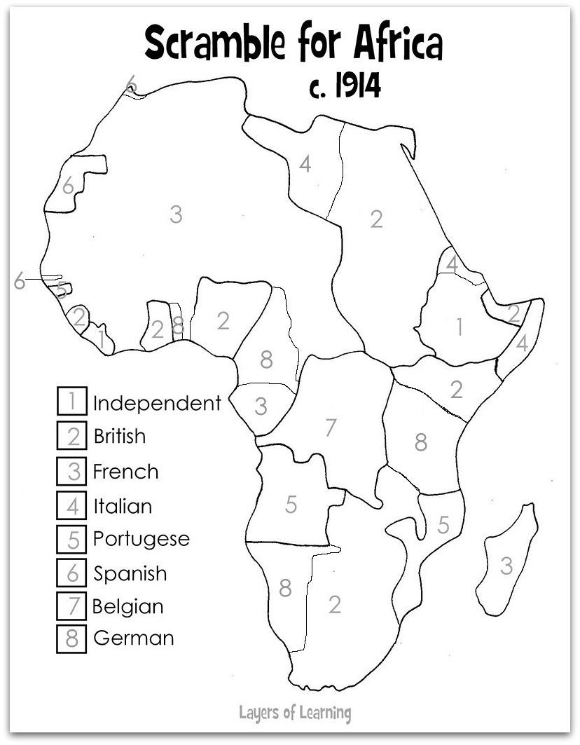 Worksheet africa map worksheet grass fedjp worksheet for Map of africa coloring page