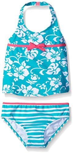 d29b5c5465 Tommy Bahama Girls Toddler Girls Two Piece Floral Tankini Mint 2T -- For  more information, visit image link.