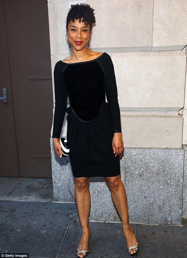 British star  Sophie Okonedo attended opening night in a black dress 6f3b4dbedd