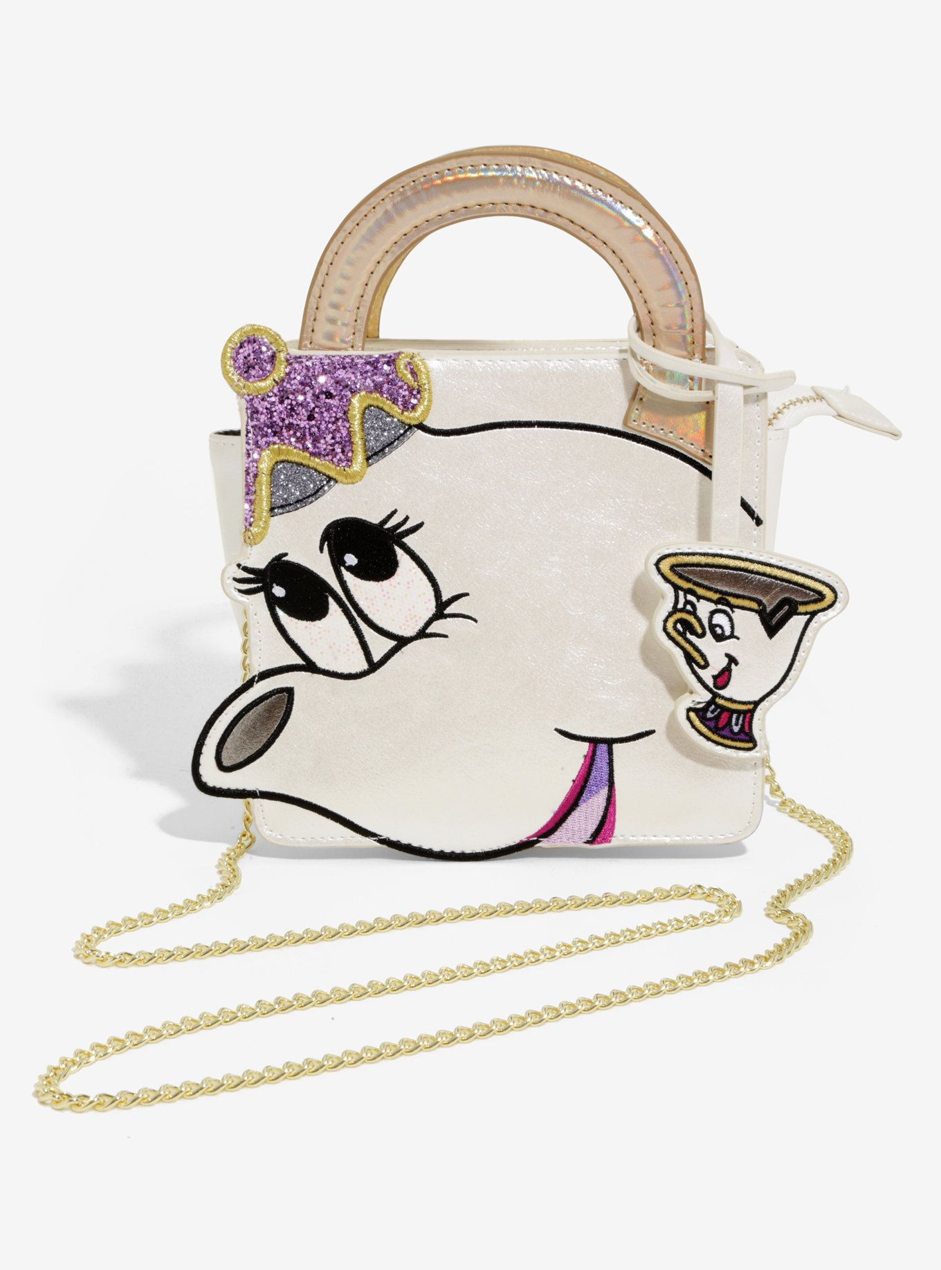 564021fa5 Danielle Nicole's collaboration with Disney brings your favorite characters  to life in an unexpected way! And on this handbag, Mrs. Potts and Chip from  ...