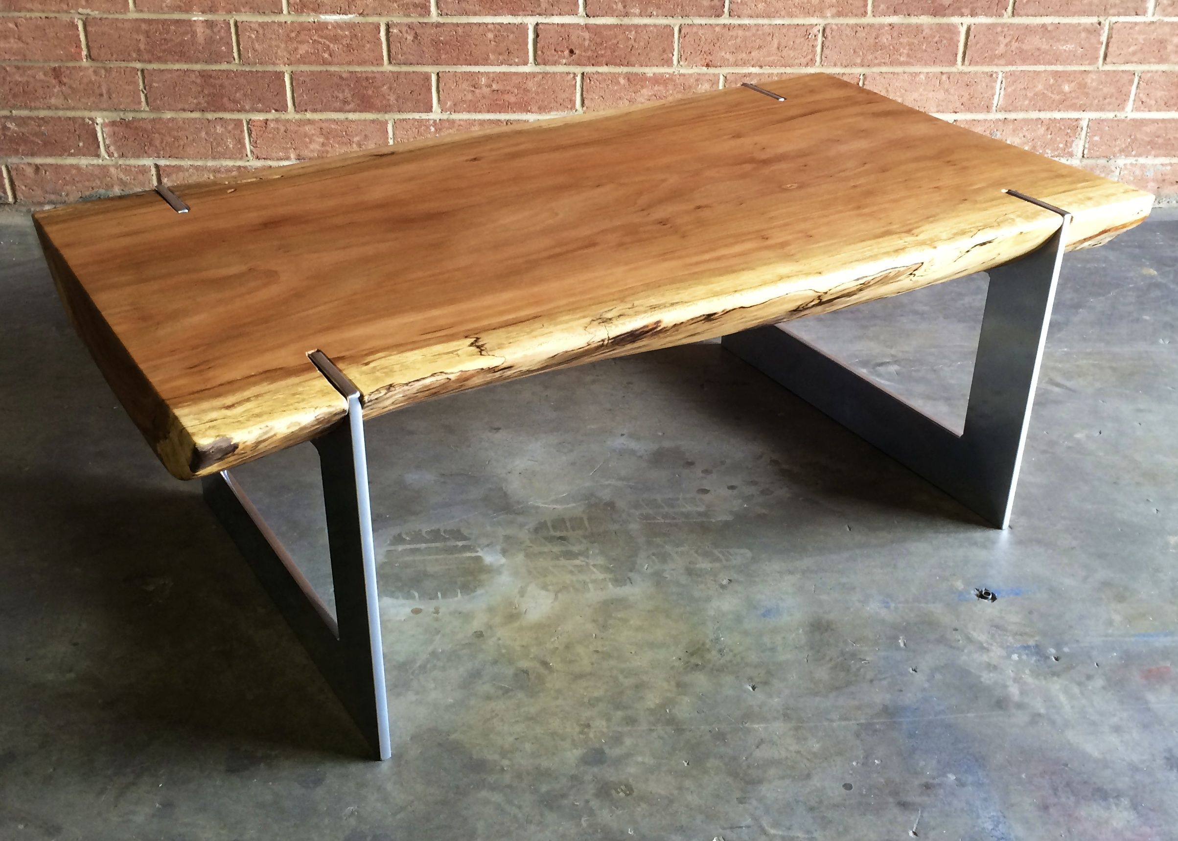Live Edge Coffee Table Josh Utsey Design Live Edge Coffee Table Slab Sycamore