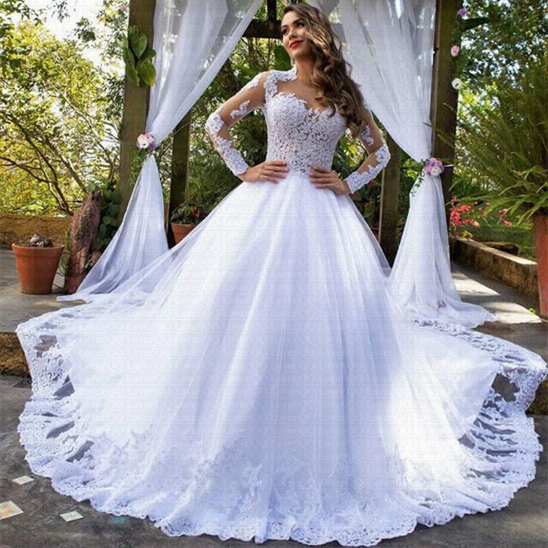 105 With Aliexpress Website Wedding Dress Long Sleeve Wedding Dresses Lace Ballgown Ball Gown Wedding Dress