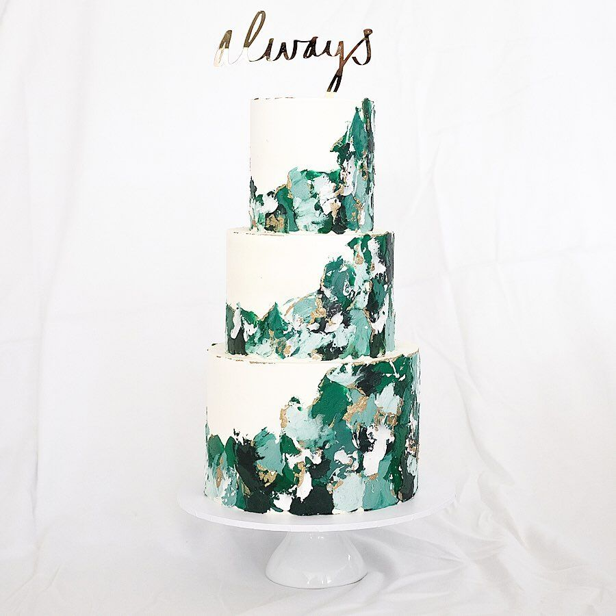 30++ Emerald green and white wedding cakes inspirations