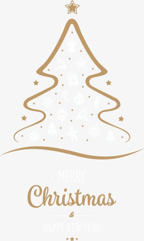 Vector Hand Drawn Line Christmas Tree Christmas Tree Drawing Book Christmas Tree Diy Christmas Tree