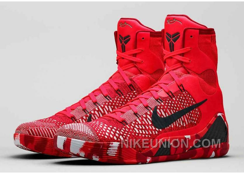 buy buy real nike kobe 9 elite christmas bright crimson white black 630847 600 top deals from reliable buy real nike kobe 9 elite christmas bright crimson