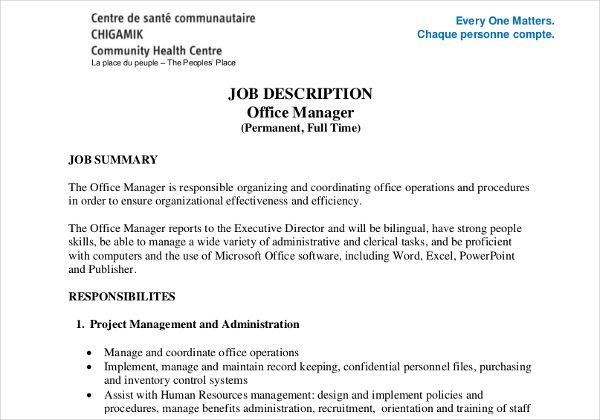 job description templates 10 printable pdf word formats
