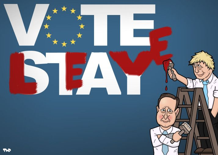 160222 Cameron Boris Johnson Brexit Cartoon Tjeerd Royaards