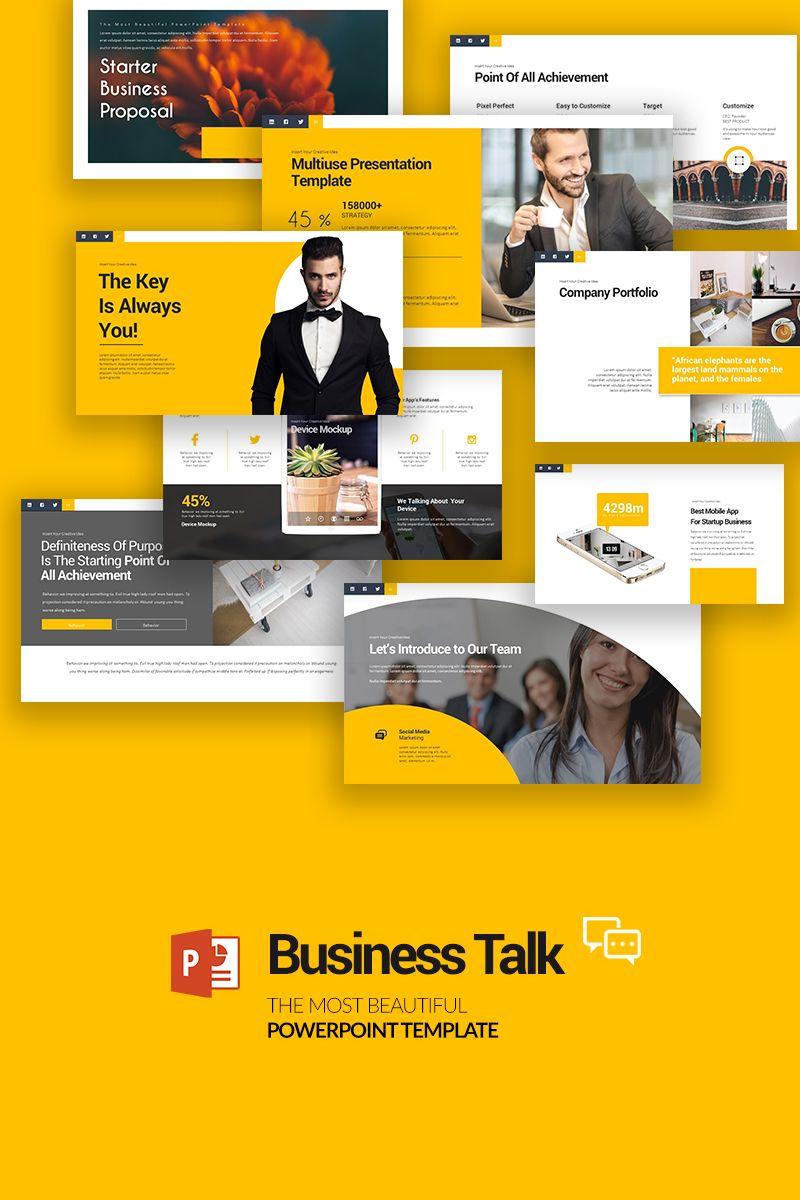 Business Talk Powerpoint Template Talk Business Template Powerpoint Powerpoint Keynote Template Keynote Presentation