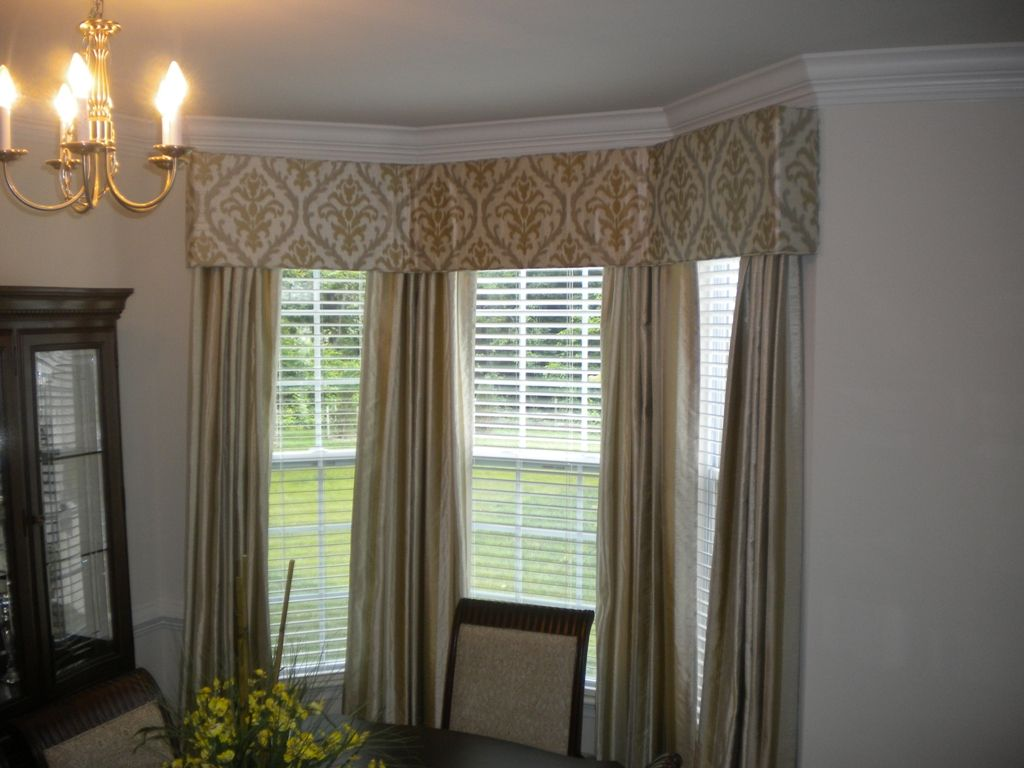 Interior Modern Bay Window Curtain Rods Ceiling Mounted Also