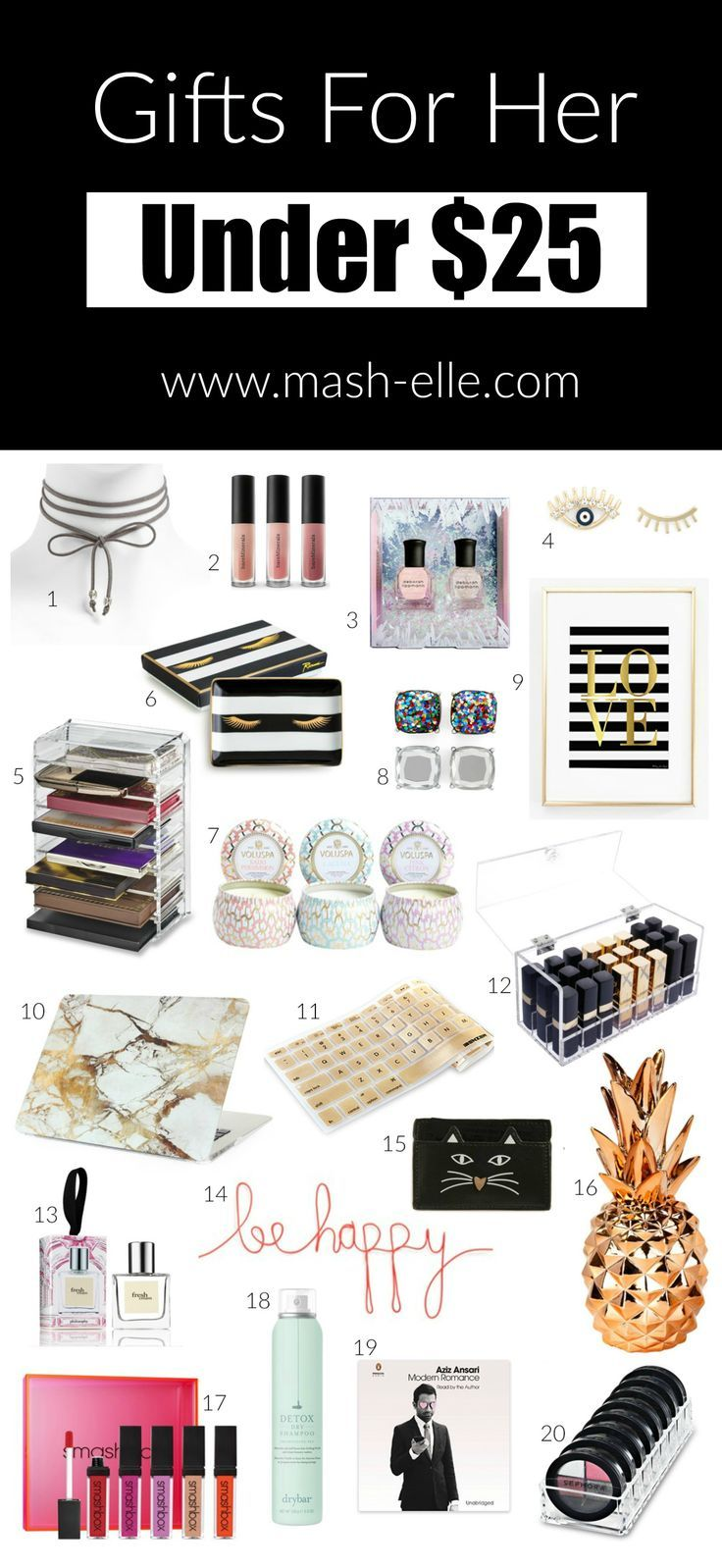 Chokers Acrylic Beauty Organizers This Gifts For Her Under 25 Has It All Fashion And Blogger Mash Elle Shares Affordable Gift Ideas The
