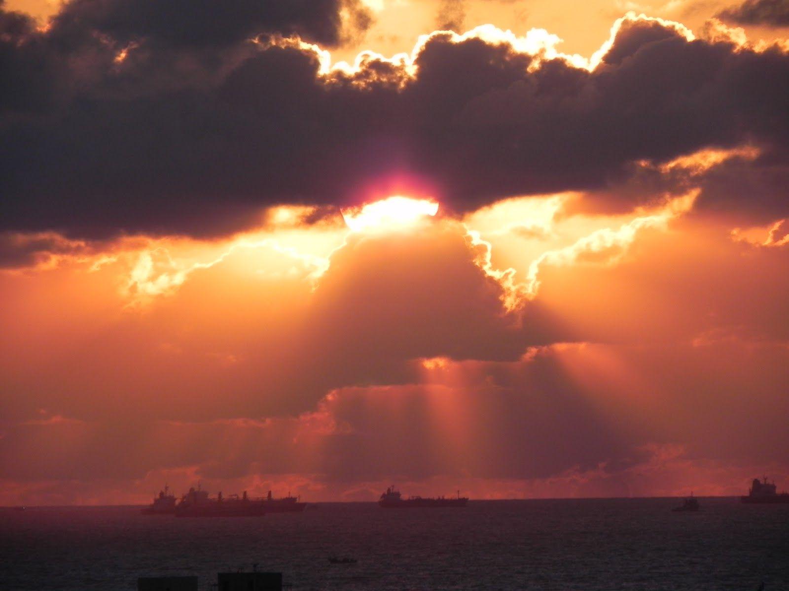 Sunset over Egypt