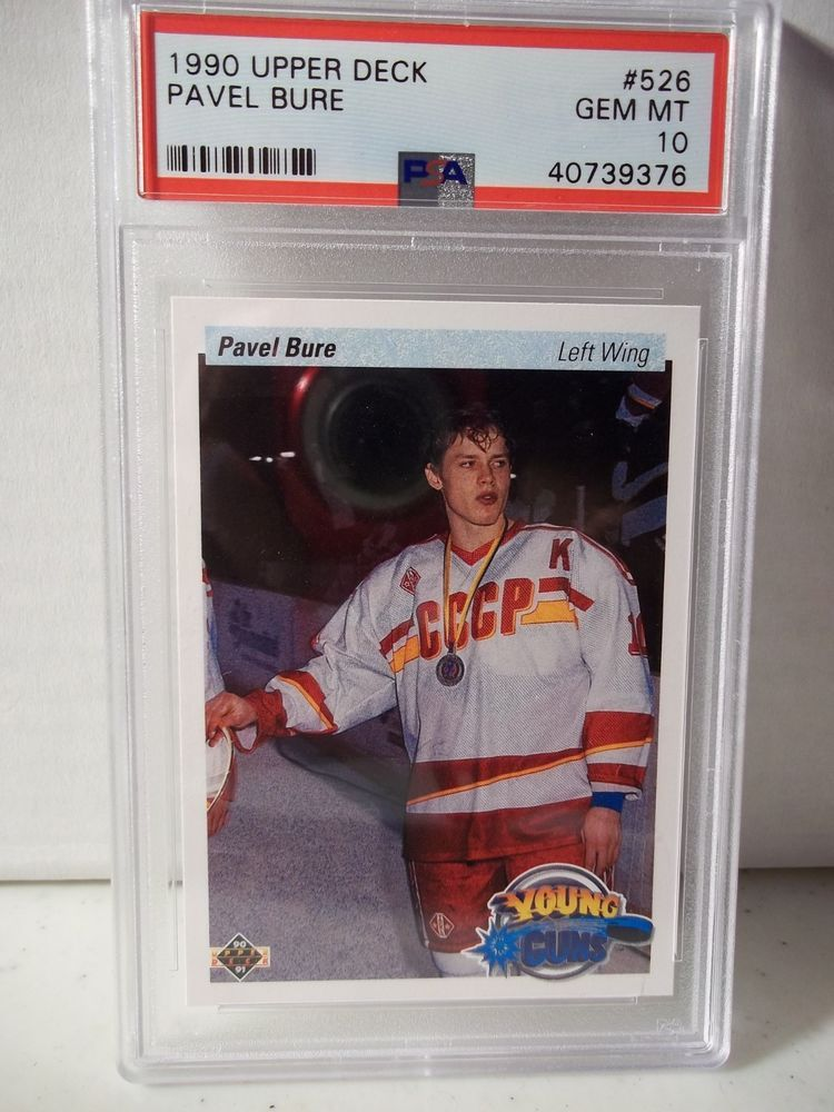 1990 upper deck pavel bure rookie psa gem mint 10 hockey