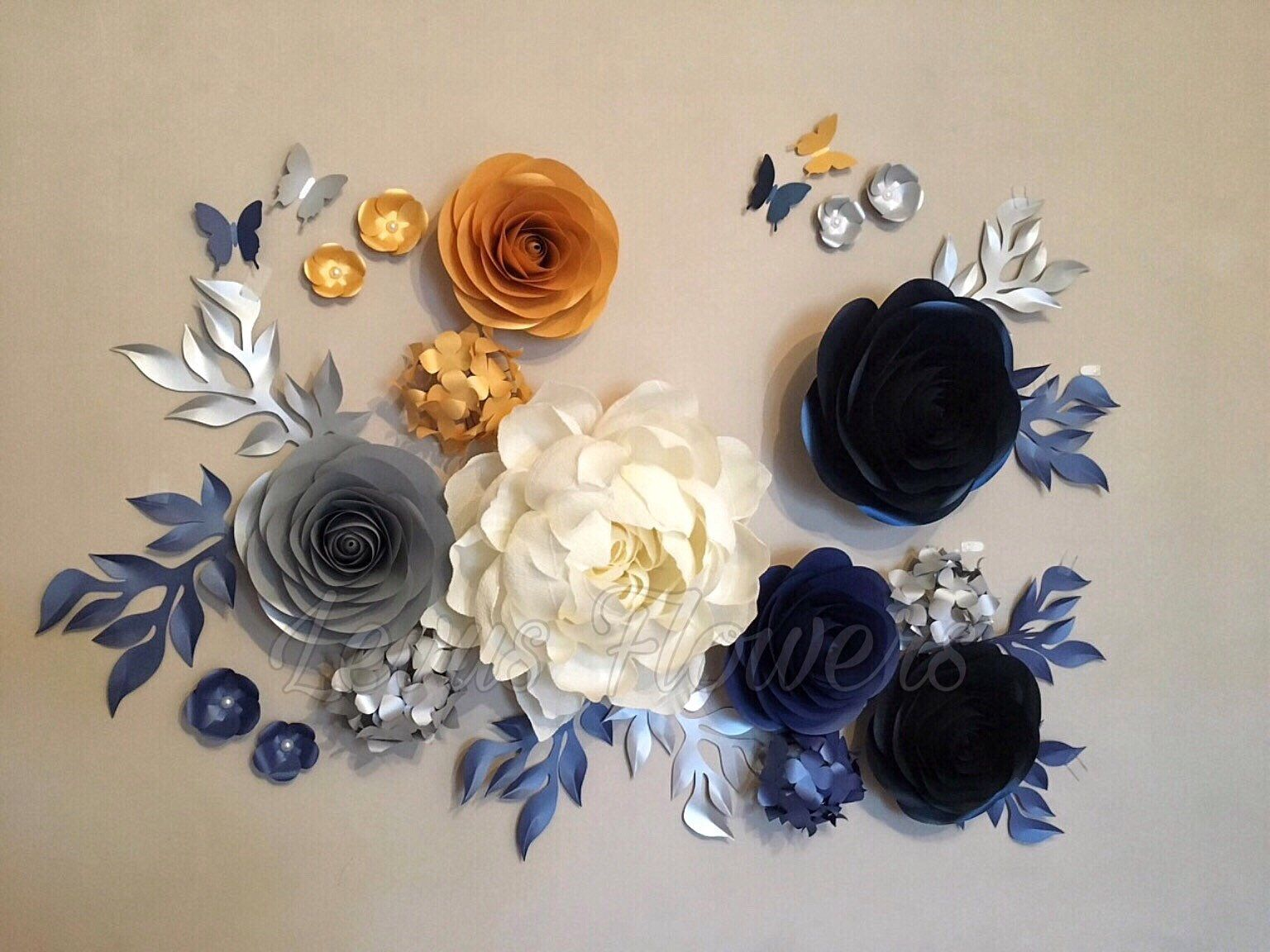 Nursery Flowers DecorationSet Paper FlowersLarge Paper Flowers