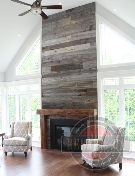 101 Reclaimed Wood Fireplace Surround Ideas Mantel Surrounds