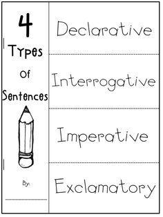 Fun Worksheets On Pinterest Types Of Sentences Class Bulletin