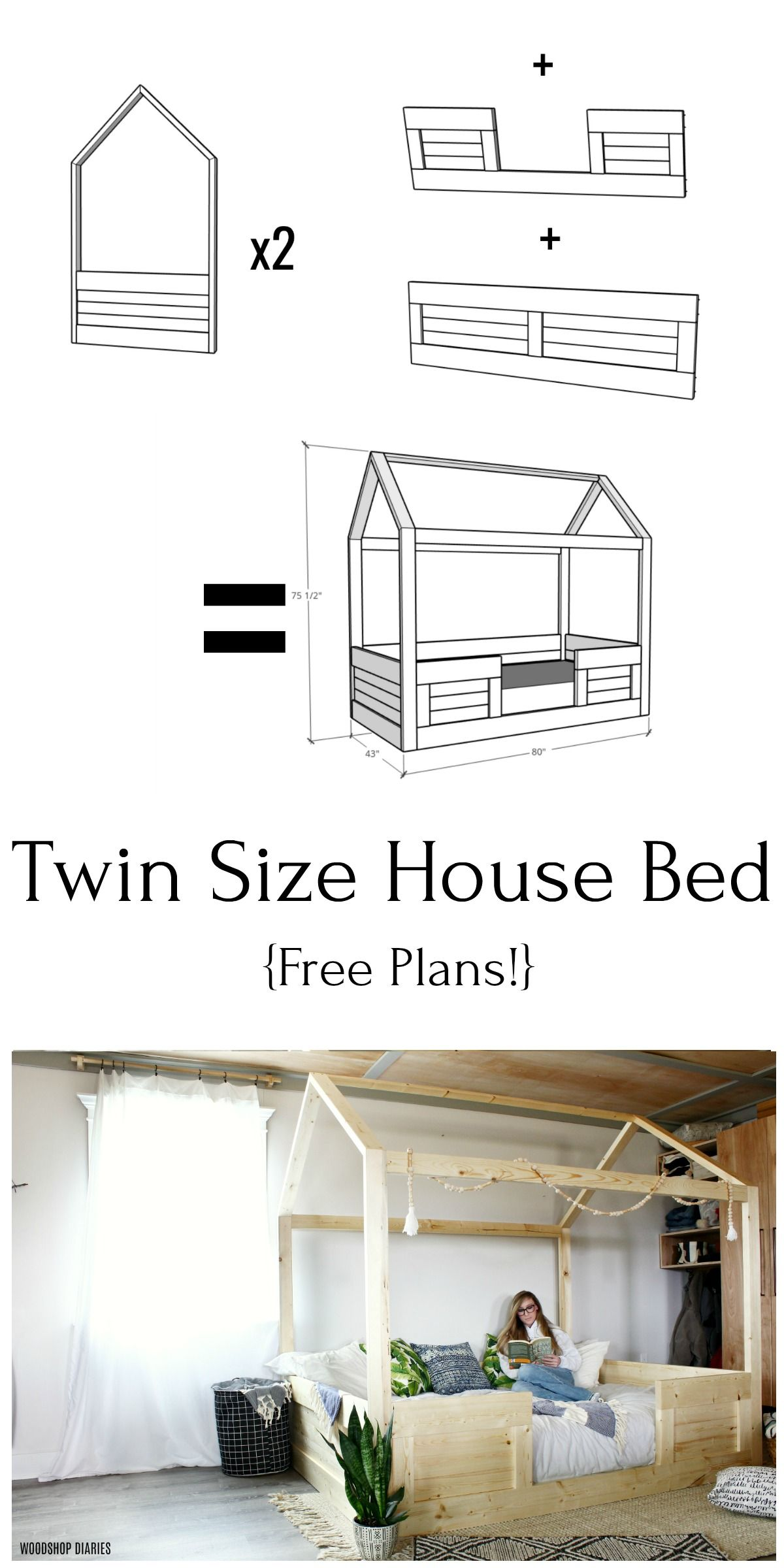 Diy Kids House Bed In 2020 House Beds For Kids House Beds Diy