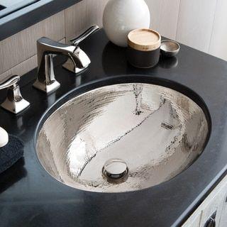 Photo of Classic Polished Nickel Undermount Bathroom Sink – 19″ x 16″ x 5.5″ (Polished Nickel), Native Trails