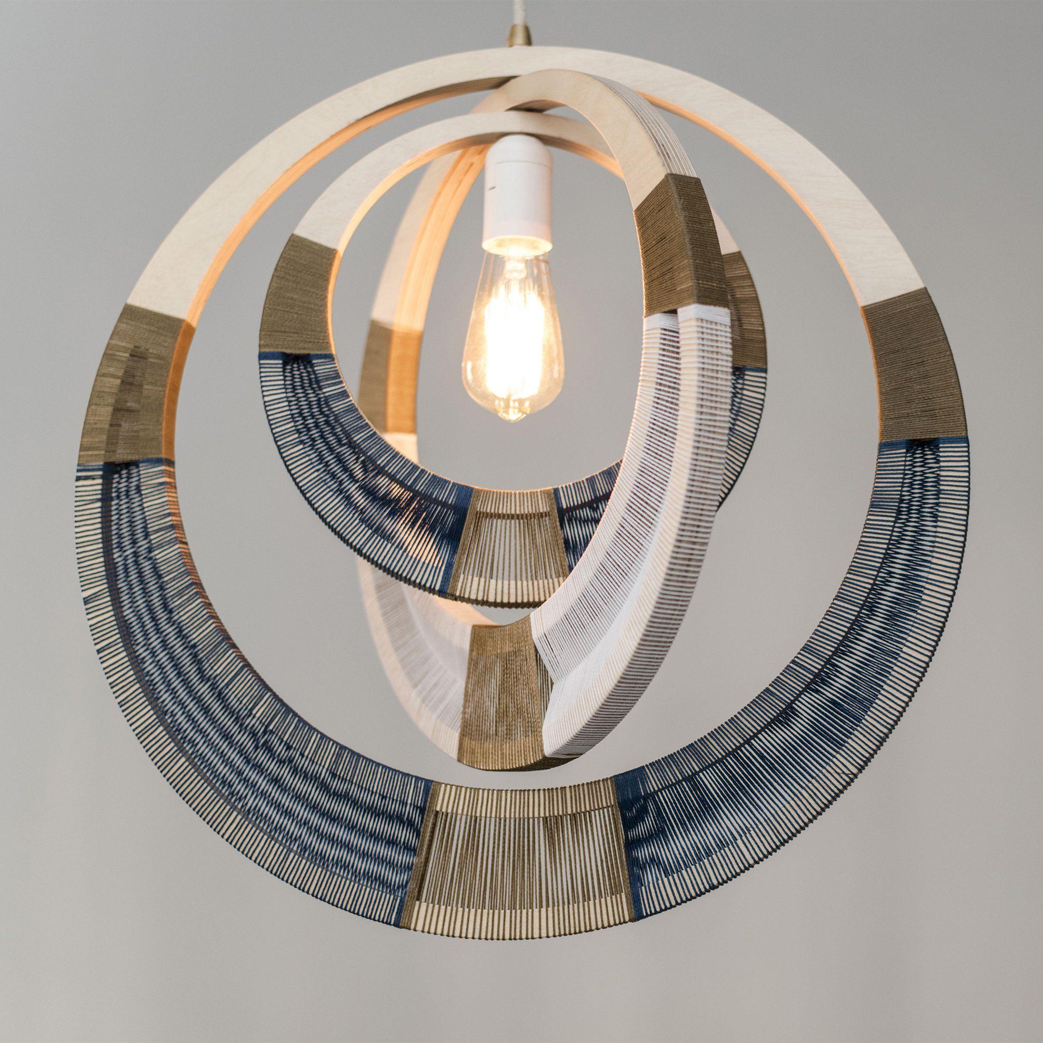 Woven Necklace Pendant Lighting Cobalt Pendant Lighting Contemporary Light Fixtures Light