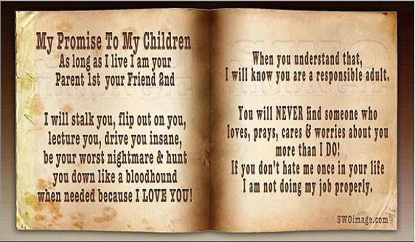 My Promise To My Children Thoughts For The Day
