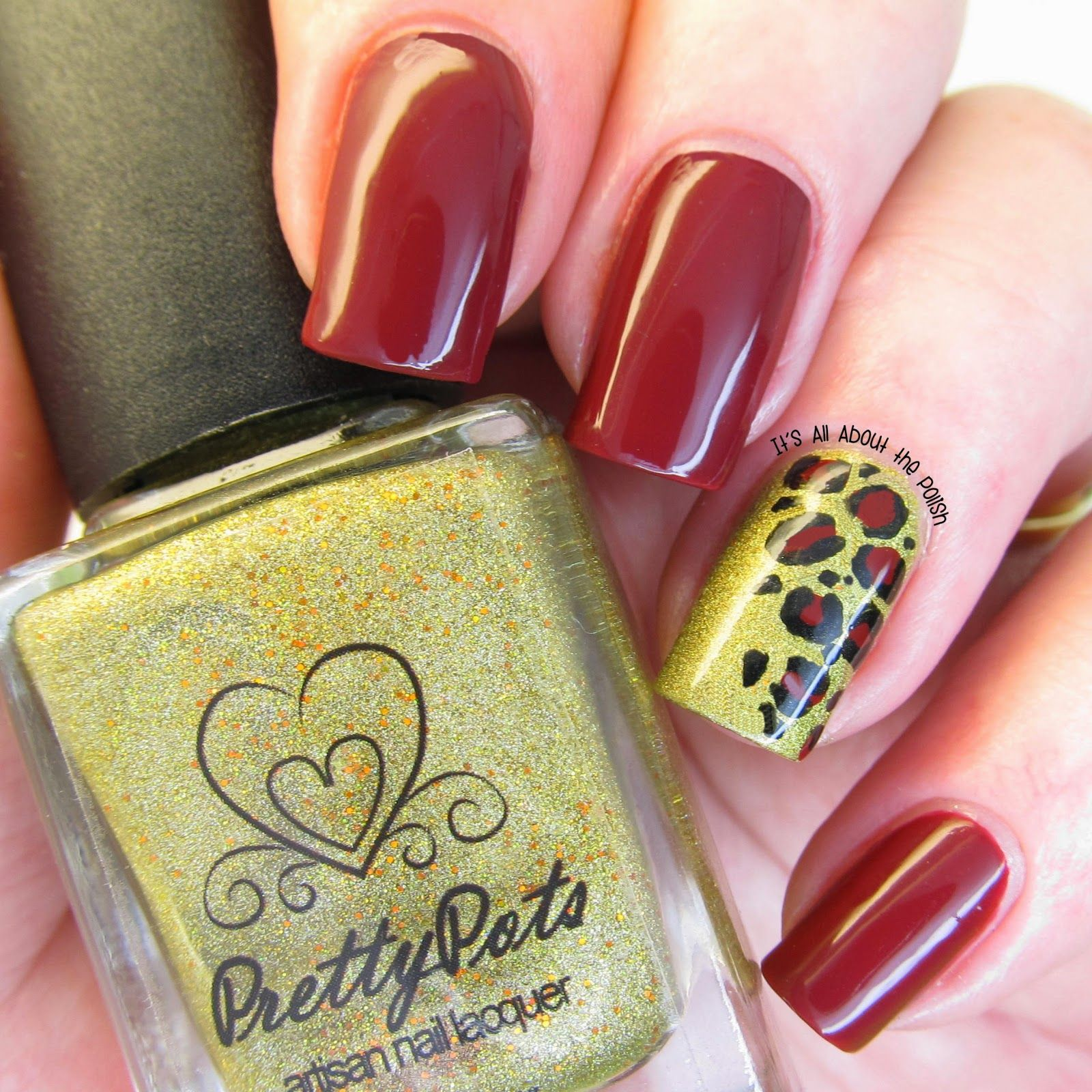 Itus all about the polish Leopard accent nail  Manicure Perfection