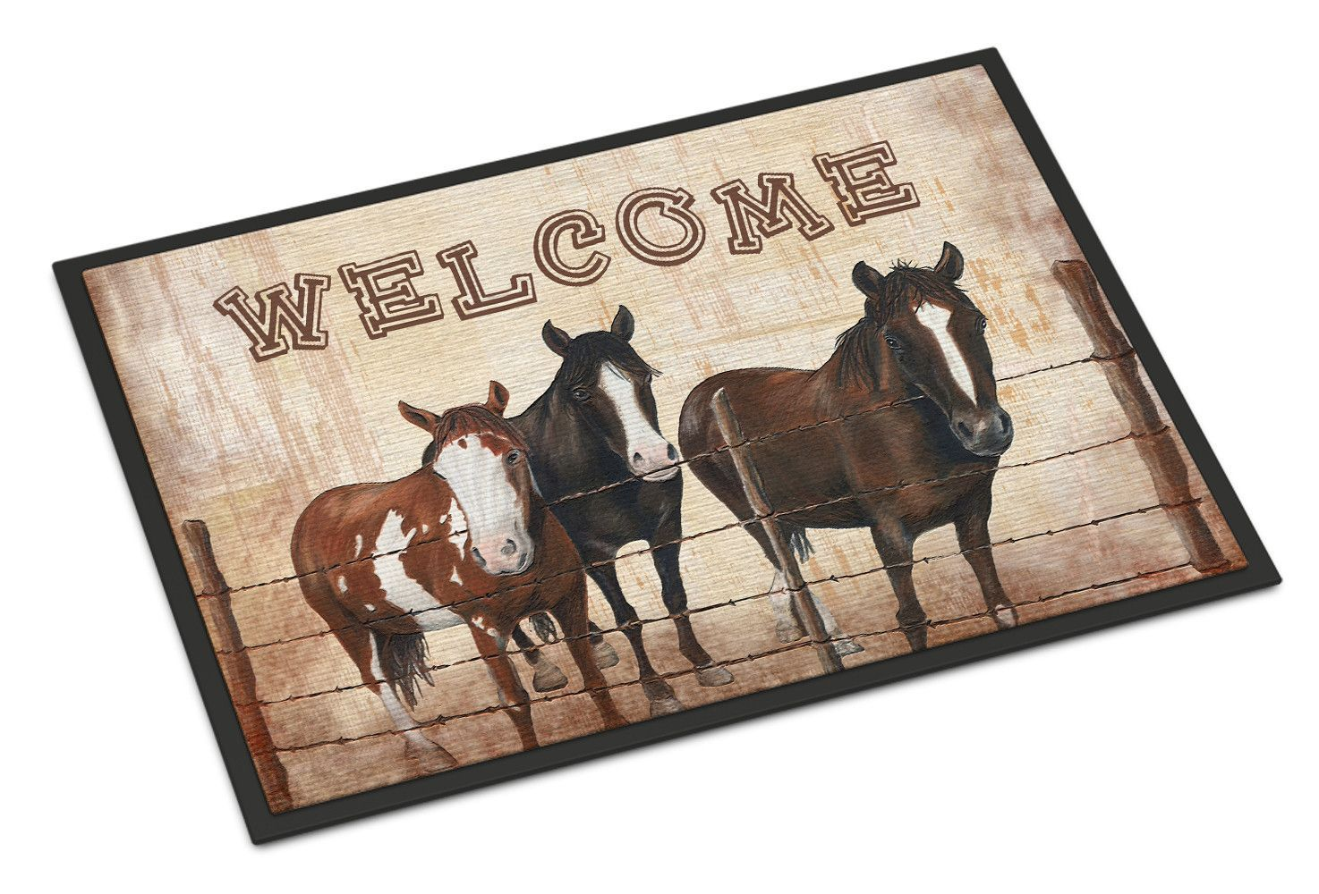Welcome Mat with Horses Indoor or Outdoor Mat 24x36 SB3059JMAT