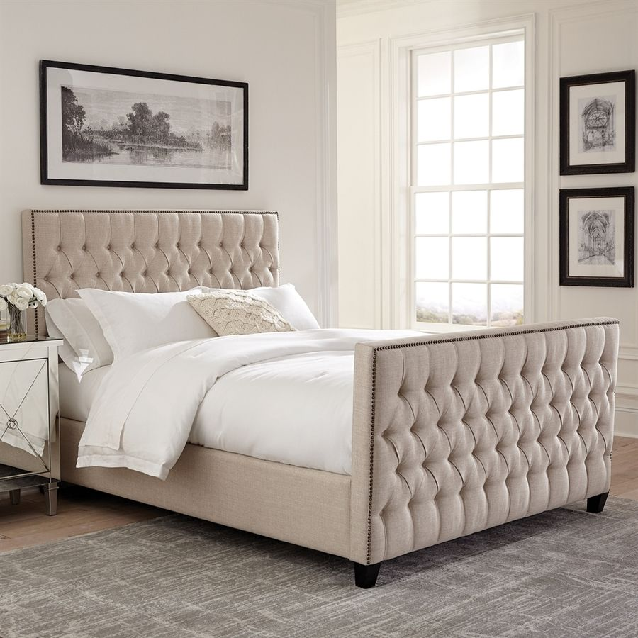 Master Bedroom Scott Living Oatmeal California King Upholstered Bed