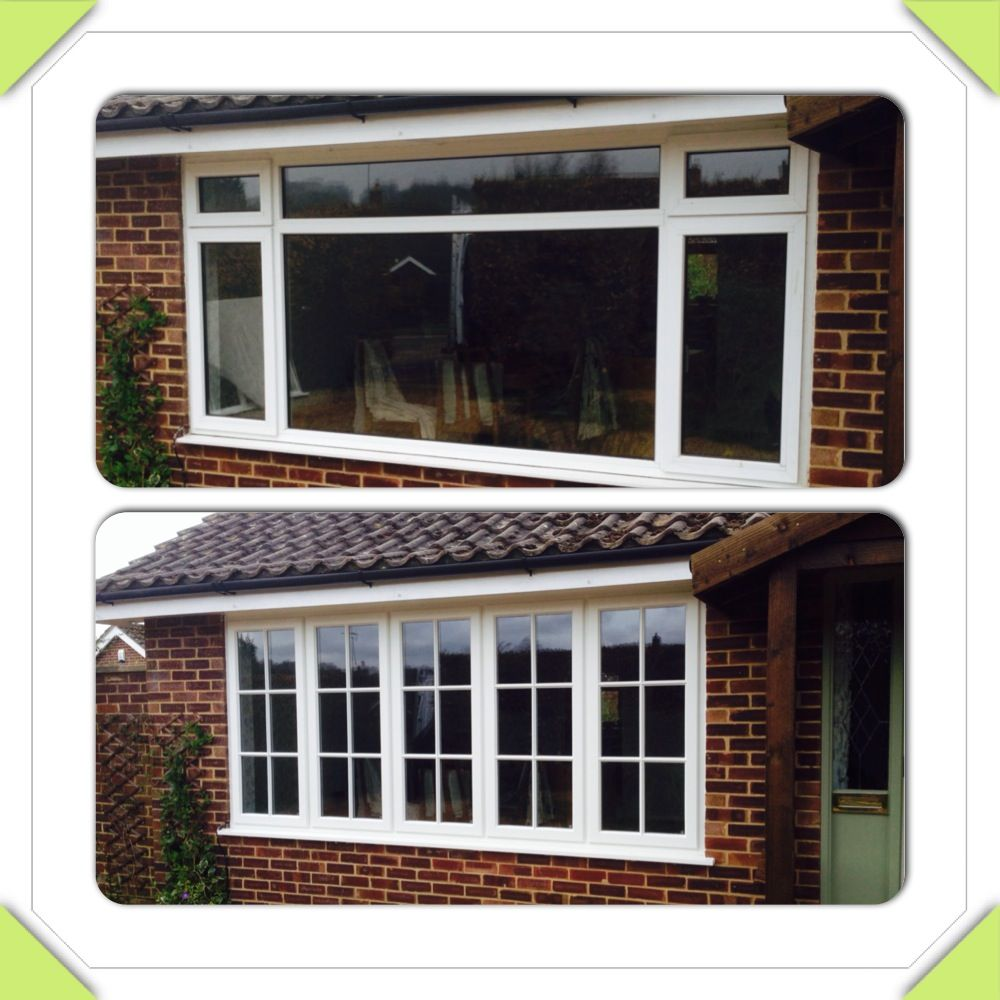 Top   before Bottom   after Replaced with a large timber window ...