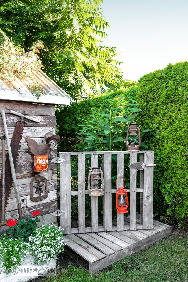 A new pallet gate and boardwalk for the shed | Pallet gate, Pallets ...