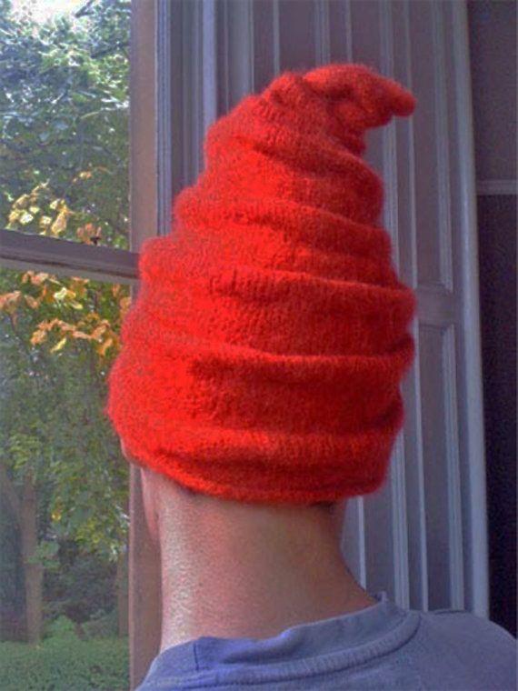 Felted Elf Hat Knitting Pattern Van Oldtownyarnsstudio Op Etsy