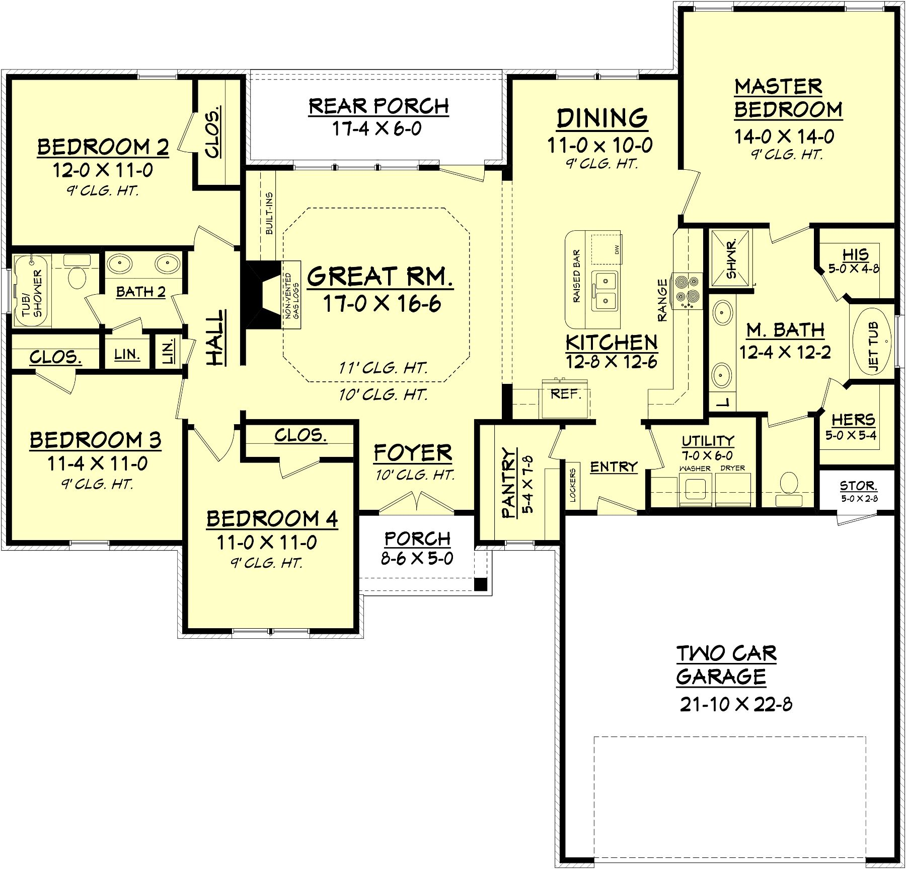 Country style house plan beds baths sqft plan