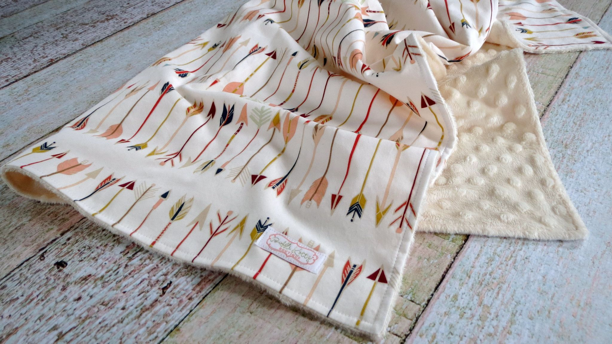 Baby Is Sure To Snuggle With This Arrow Minky Blanket For Years To Come Super
