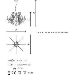 Photo of Lampe suspension design Slamp Ginetta – argent Ginetta Gin14sos0000s____ SlampSlamp