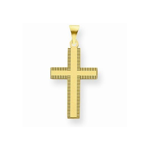 14k Yellow Gold Laser Designed Cross