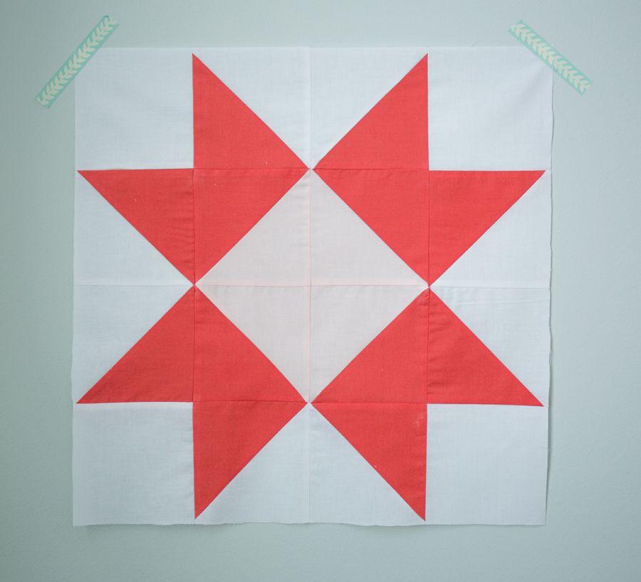 Quilt Block of the Month:The Ribbon Star Quilt Block Tutorial   Nähen