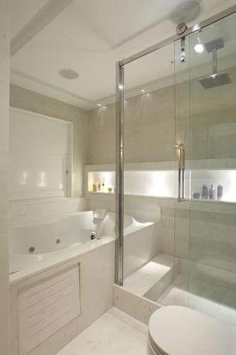 Confira a decoração de 20 banheiros grandes e pequenos  Banheiro grande, Nic -> Nicho Banheiro Brasilia