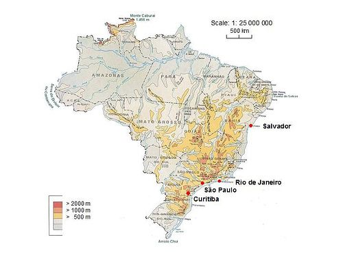 Topographic Map Of Brazil World Cup 2014 World Cup 2014 World