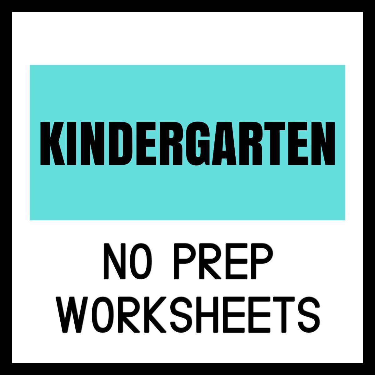 Kindergarten Worksheets For Kids Free Printables Great