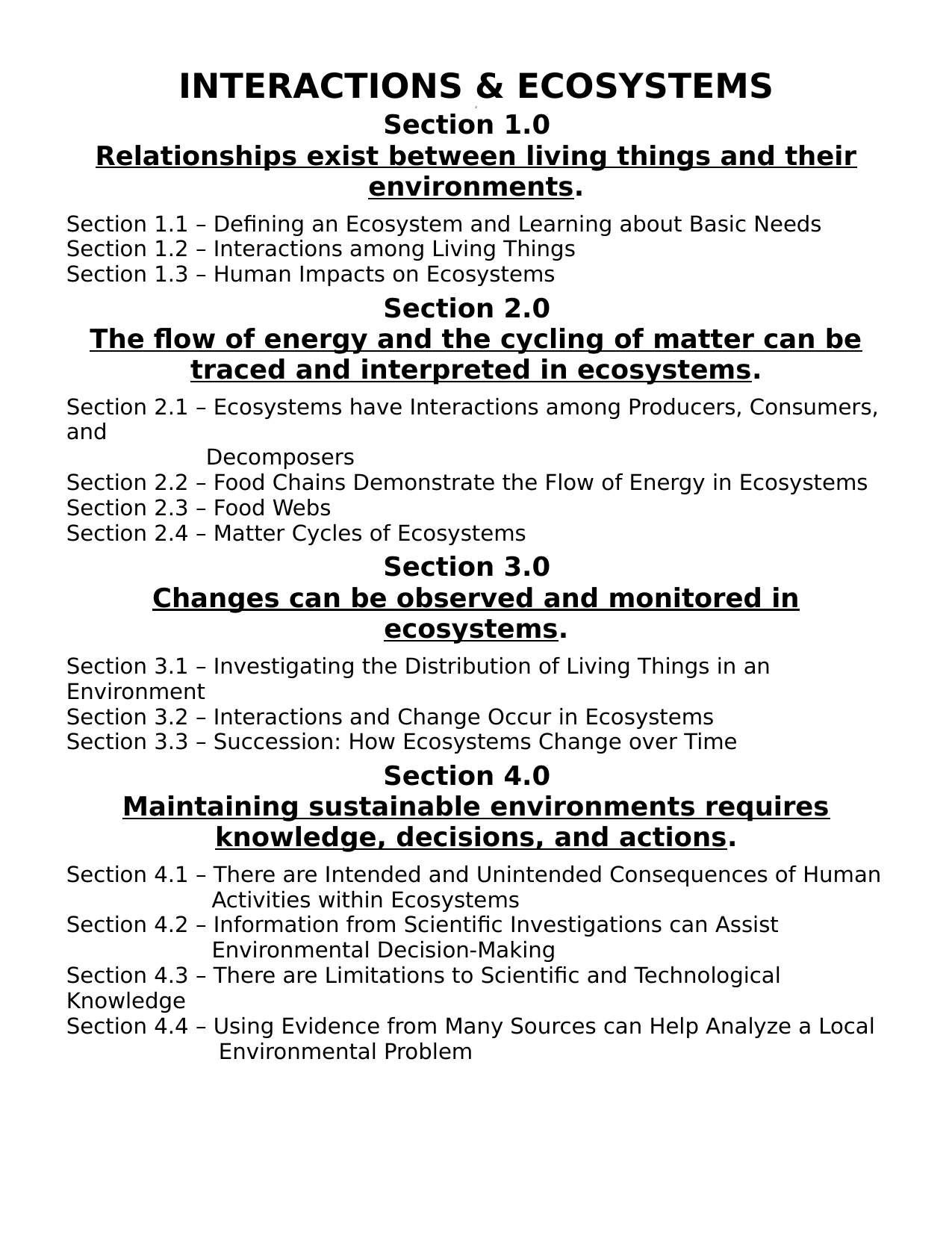Science 7 Interactions And Ecosystems Unit And Lesson Plans Resource Preview