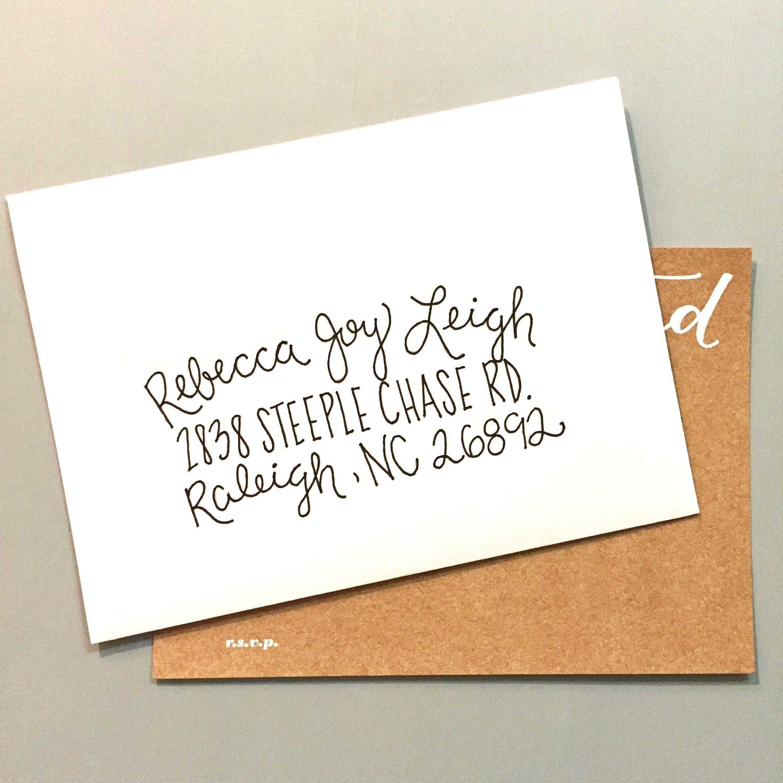 Hand Lettering | Envelope Addressing | Wedding Invitations | Custom ...