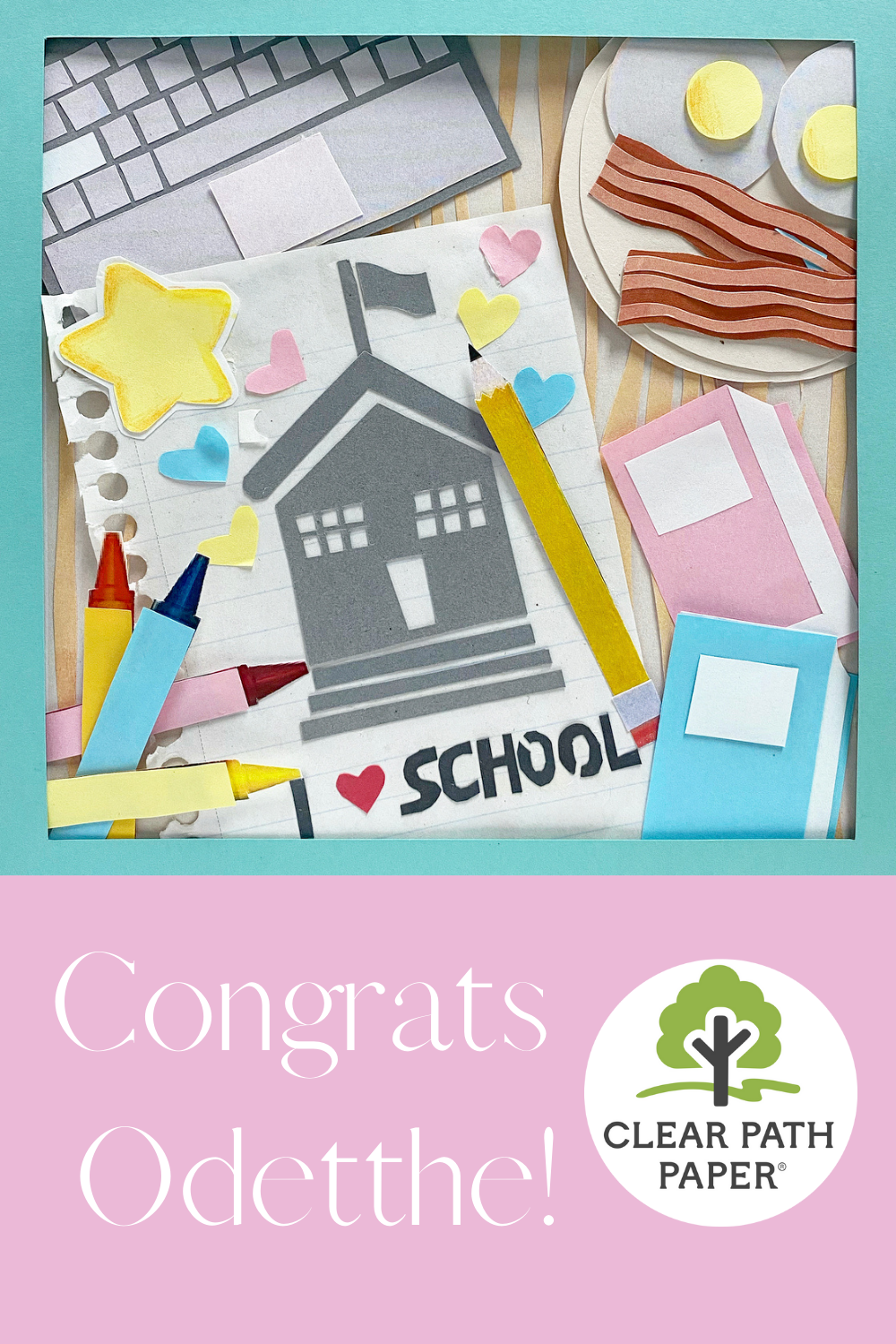 Congrats to the Second Place Winner of our Back-to-School Crafting Contest, Odetthe! Odetthe's collage is entitled