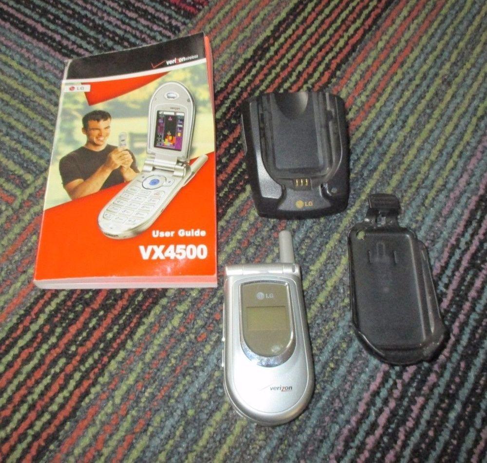 LG VX4500 METALLIC SILVER CELLULAR PHONE FLIP PHONE